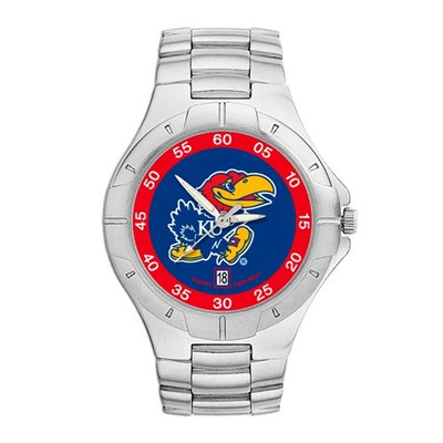 Kansas Jayhawks Men's Chrome Alloy Watch | Logo Art | UKS117