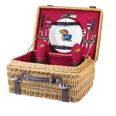 Kansas Jayhawks Champion Picnic Basket | Picnic Time | 208-40-100-244-0