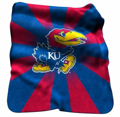 Kansas Jayhawks Raschel Throw Blanket | Logo Chair | 157-26