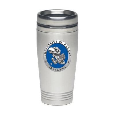 Kansas Jayhawks Thermal Mug | Heritage Pewter | TD10184EB