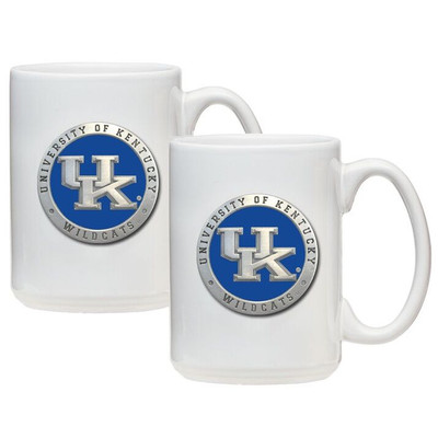 Kentucky Wildcats Coffee Mug Set of 2 | Heritage Pewter | CM10567EBWH