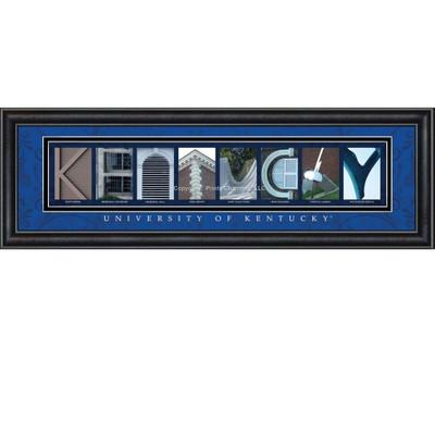 Kentucky Wildcats Campus Letter Art | Get Letter Art | CLAL1B22KTKY