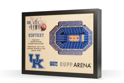 Kentucky Wildcats Framed 3-D Stadium Art   Stadium Views   9022442