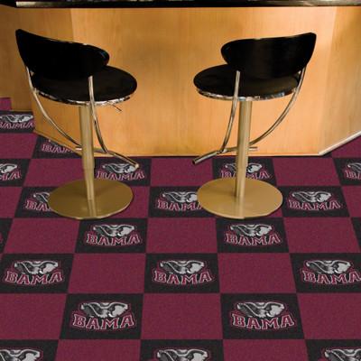 Alabama Crimson Tide Carpet Tiles | Fanmats | 8524