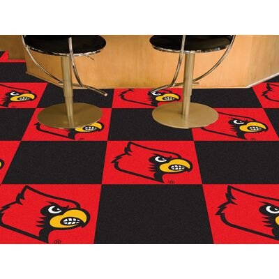 Louisville Cardinals Carpet Tiles | Fanmats | 8538
