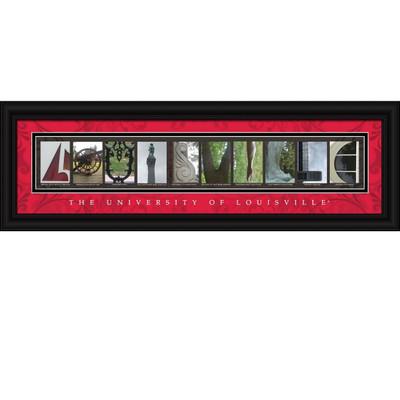 Louisville Cardinals Letter Art | Get Letter Art | CLAL1B22LVLL