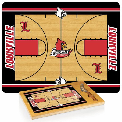 Louisville Cardinals Icon Cheese Tray | Picnic Time | 910-00-505-305-0
