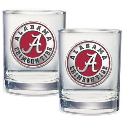 Alabama Crimson Tide Cocktail Glasses | Heritage Pewter | DOF10308ER