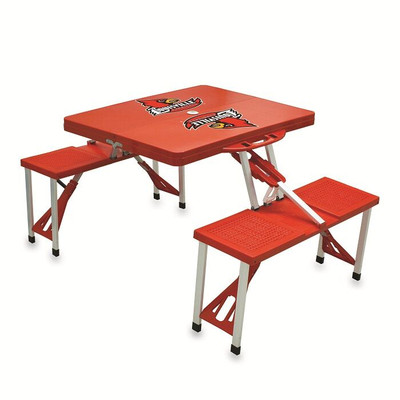 Louisville Cardinals Folding Picnic Table | Picnic Time | 811-00-100-304-0