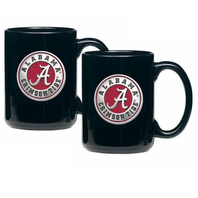 Alabama Crimson Tide Coffee Mug Set of 2 | Heritage Pewter | CM10308ERBK