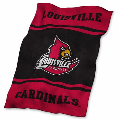 Louisville Cardinals Ultrasoft Blanket | Logo Chair | 161-27