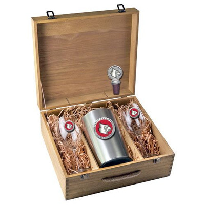 Louisville Cardinals Wine Box Set | Heritage Pewter | WSB10186ER
