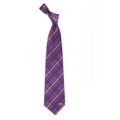 LSU Tigers Oxford Woven Silk Tie | Eagles Wings | 4809