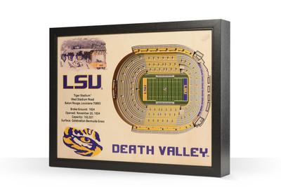 LSU Tigers Framed 3-D Stadium Art   Stadium Views   9022411