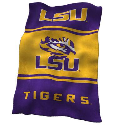 LSU Tigers Ultrasoft Blanket | Logo Chair | 162-27