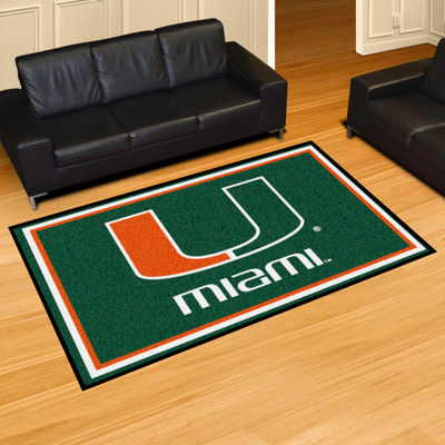 Miami Hurricanes Area Rug 5' x 8' | Fanmats | 6313
