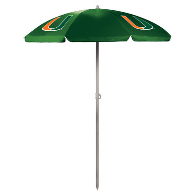 Miami Hurricanes Beach Umbrella | Picnic Time | 822-00-121-324-0