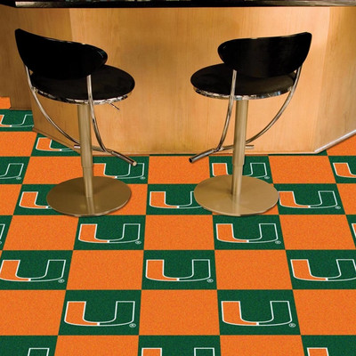 Miami Hurricanes Carpet Tiles | Fanmats | 8523