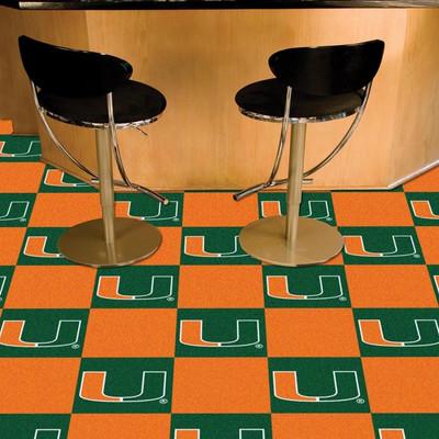 Miami Hurricanes Carpet Tiles | Fanmats | 8523