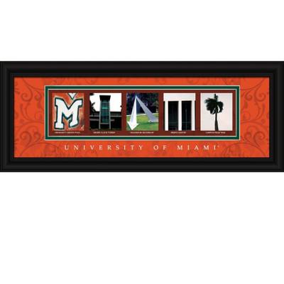 Miami Hurricanes Letter Art | Get Letter Art | CLAL1B18MIAM