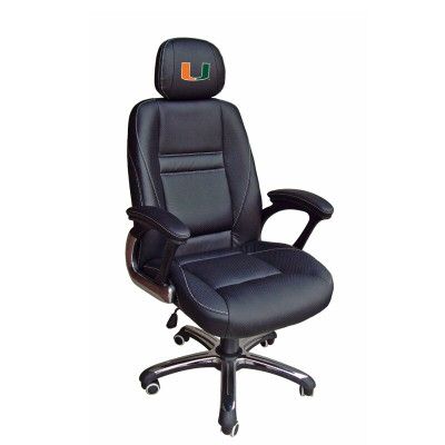 Miami Hurricanes Leather Office Chair | Wild Sports | 901C-MIFL
