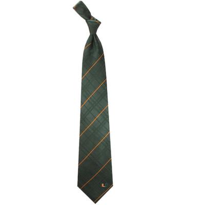 Miami Hurricanes Oxford Woven Silk Tie | Eagles Wings | 4876