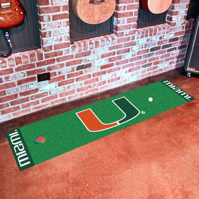 Miami Hurricanes Putting Green Mat | Fanmats | 9085