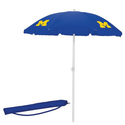 Michigan Wolverines Beach Umbrella | Picnic Time | 822-00-138-344-0