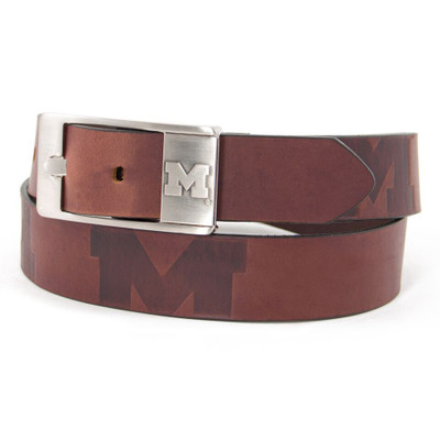 Michigan Wolverines Brandish Brown Belt | Eagles Wings | 9236-