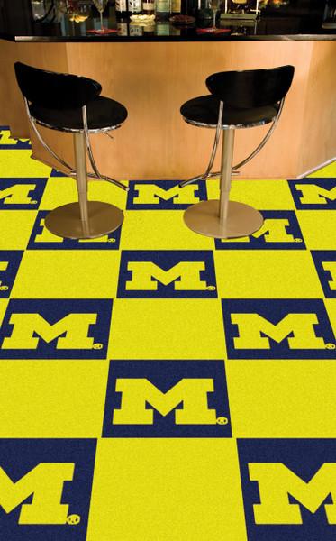 Michigan Wolverines Carpet Tiles   Fanmats   8513