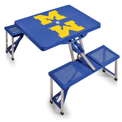 Michigan Wolverines Folding Picnic Table | Picnic Time | 811-00-139-344-0