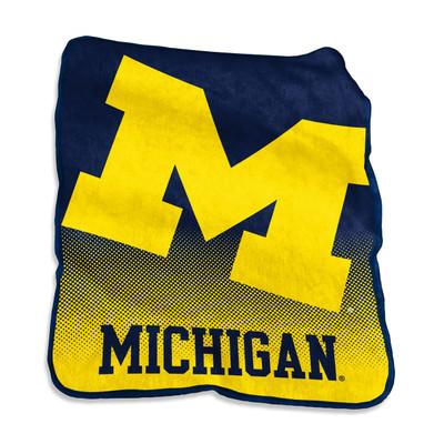 Michigan Wolverines Raschel Throw Blanket | Logo Chair | 171-26A