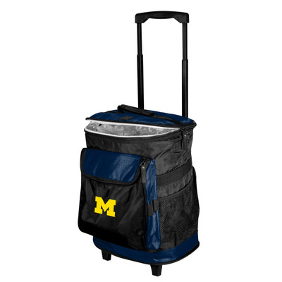 Michigan Wolverines Rolling Cooler | Logo Chair | 171-57B-1