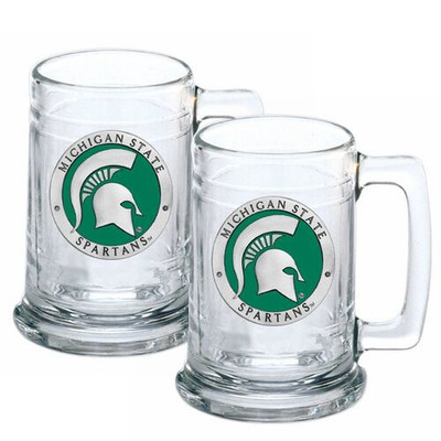 MSU Spartans Beer Mug Set of Two | Heritage Pewter | ST10171E