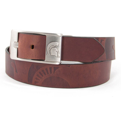 MSU Spartans Brandish Brown Belt | Eagles Wings | 9243-