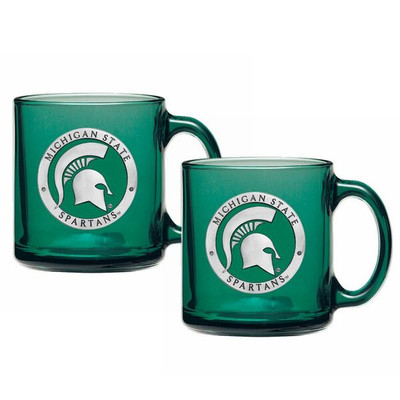 MSU Spartans Coffee Mug Set of 2 | Heritage Pewter | CM10171E