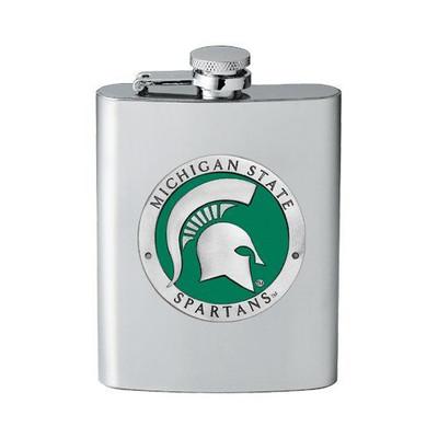 MSU Spartans Flask | Heritage Pewter | FFS10171E