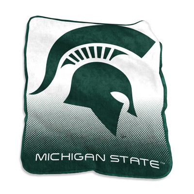 MSU Spartans Raschel Throw Blanket | Logo Chair | 172-26A