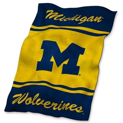 Michigan Wolverines Ultrasoft Blanket | Logo Chair | 171-27