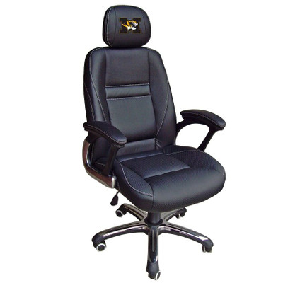 Missouri Tigers Leather Office Chair | Wild Sports | 901C-MO