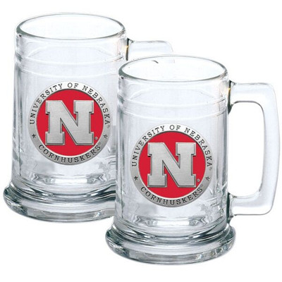Nebraska Huskers Beer Mug Set of Two | Heritage Pewter | ST10183ER
