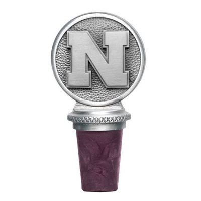 Nebraska Huskers Bottle Stopper | Heritage Pewter | BS10183