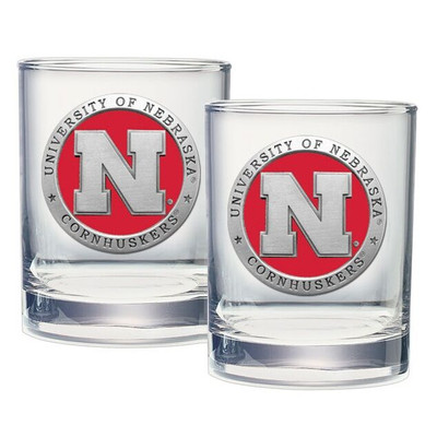 Nebraska Huskers Cocktail Glasses | Heritage Pewter | DOF10183ER