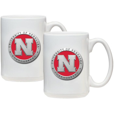 Nebraska Huskers Coffee Mug Set of 2 | Heritage Pewter | CM10183ERWH