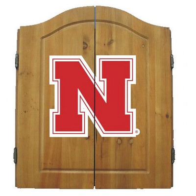 Nebraska Huskers Dart Board Cabinet | Imperial International | 58-4010
