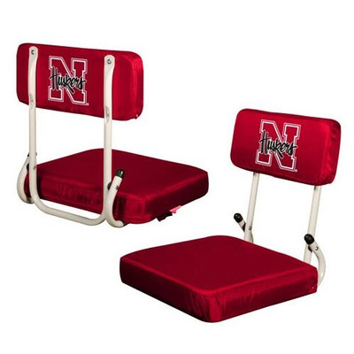 Nebraska Huskers Hard Back Stadium Seat | Logo Chair | 182-94