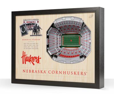 Nebraska Huskers Framed 3-D Stadium Art   Stadium Views   9022374