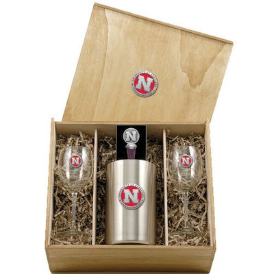 Nebraska Huskers Wine Box Set | Heritage Pewter | WSB10183ER
