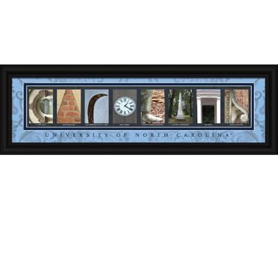 UNC Tar Heels Campus Letter Art | Get Letter Art | CLAL1B22NCAR