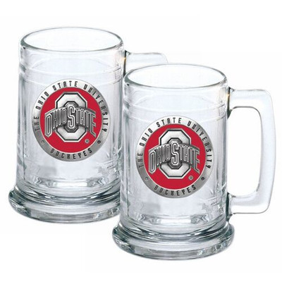 Ohio State Buckeyes Beer Mug Set of Two | Heritage Pewter | ST10175E